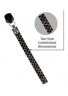 Edgy Black Sparkling Cane Strap